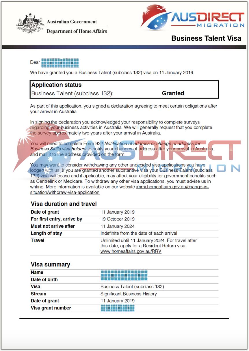 Business Talent Visa