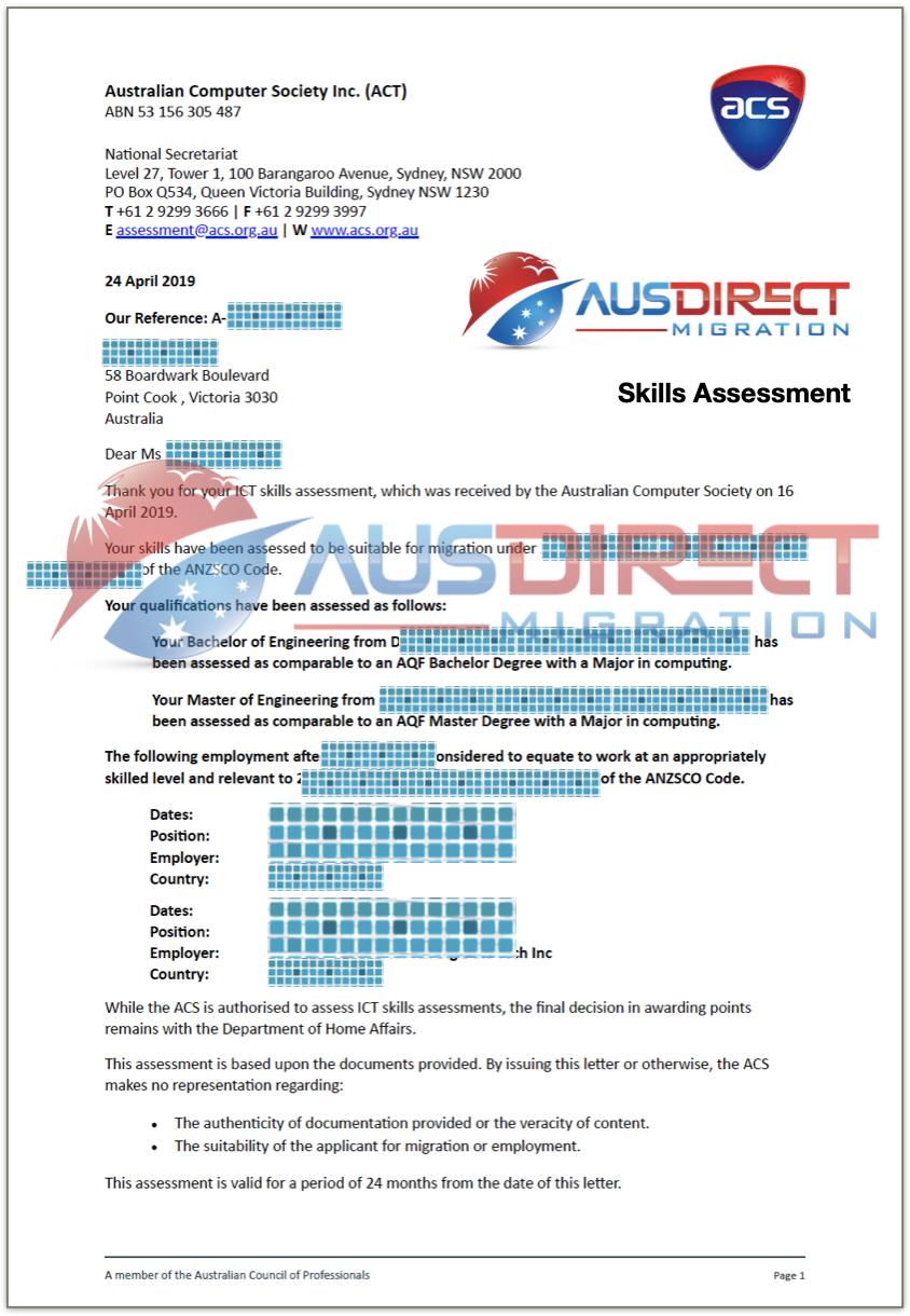 Skills Assessment (ACS)